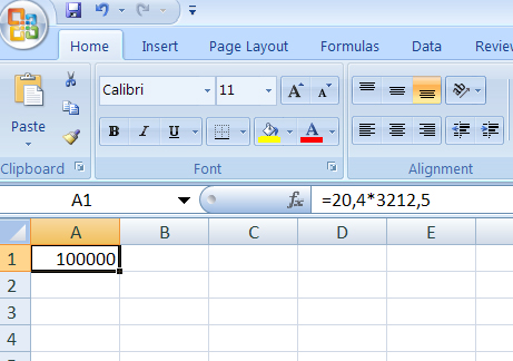 excel 2007: bug in simple arithmetic operation